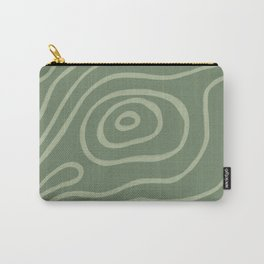 Topographic Map / Grayish Green Carry-All Pouch