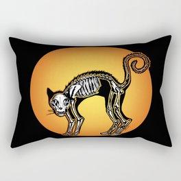 Halloween Cat Skeleton silhouette Rectangular Pillow