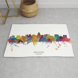 Madison Wisconsin Skyline Rug