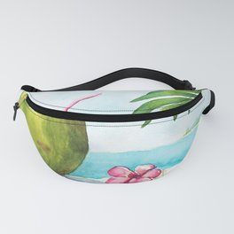 Coconut at the beach Fanny Pack