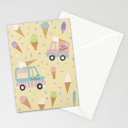 Ice Cream Trucks and Treats Stationery Cards