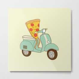 pizza delivery Metal Print