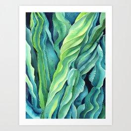 Euphorbia Cactus Art Print