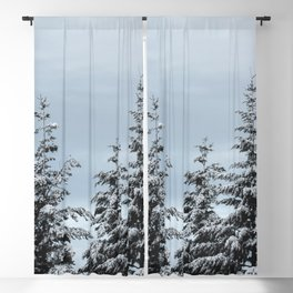 Winter Wanderlust Woods IV - Snow Capped Forest Nature Photography Blackout Curtain