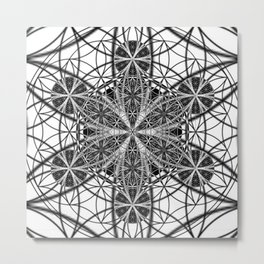 Down That Rabbit Hole - The Sacred Geometry Collection Metal Print
