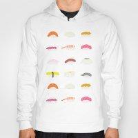 sushi Hoodies featuring Sushi by Alysha Dawn