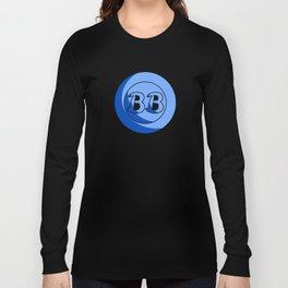 Blue Button Short Film Logo Long Sleeve T-shirt