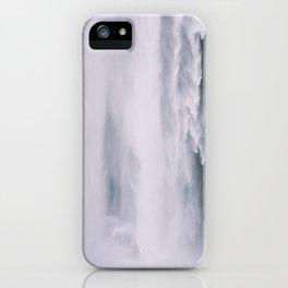 Facing Raging Skogafoss iPhone Case