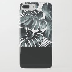 Palm Leaves and Black iPhone 7 Plus Slim Case