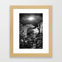 XIII. Death & Rebirth Tarot Card Illustration (Alternative Version) Framed Art Print