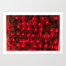Christmas in Red Art Print