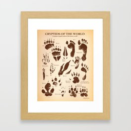 Cryptids of the World Framed Art Print