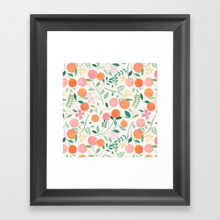 Vanilla Peaches Gerahmter Kunstdruck