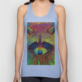 AnimalColor_Racoon_002 Unisex Tank Top