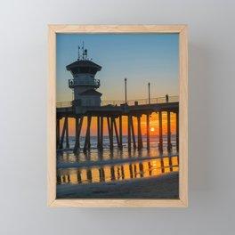 Fall Sunset Through the Pier Framed Mini Art Print