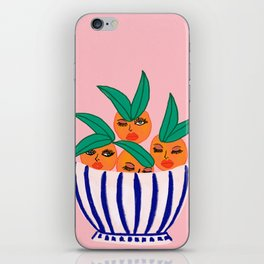 Sassy Oranges In A Bowl iPhone Skin