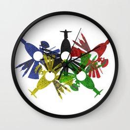Rio de Janeiro skyline in various colors Wall Clock