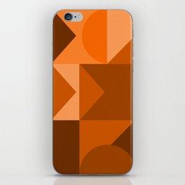 Desert Vibes Geometric Shapes in Terracotta and Burnt Orange iPhone Skin