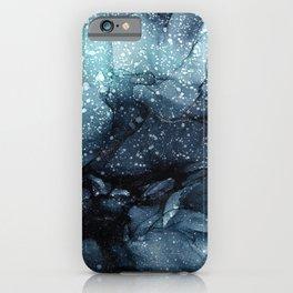 Moody Ocean Seas Ink Abstract Painting iPhone Case