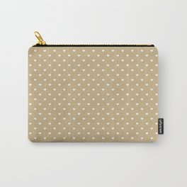 White Hearts On Christmas Gold Carry-All Pouch