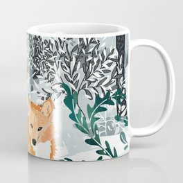 Fox Snow Walk Coffee Mug