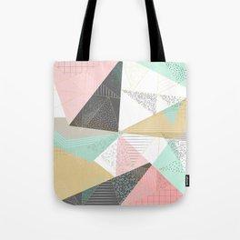 Stylish gold triangles geometric design Tote Bag