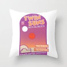 Twin Suns - Sun Screen Throw Pillow