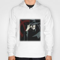 vendetta Hoodies featuring V for Vendetta (e1) by Ezgi Kaya