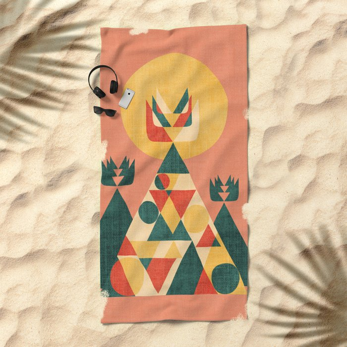 Sunset Tipi Beach Towel