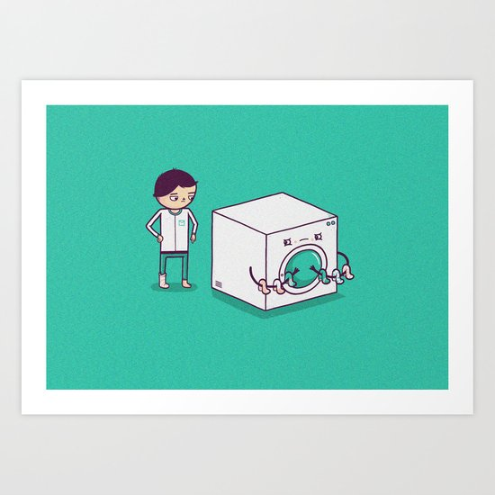 Secret Habit Art Print