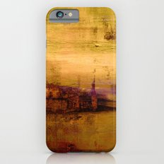 golden abstract landscape iPhone 6s Slim Case