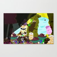 cookie monster Canvas Prints featuring Cookie Monster by Vito Giorgio