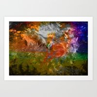 Abstract Painted Style Art Print