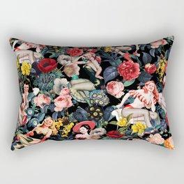 Floral and Pin-Up Girls IV Rectangular Pillow