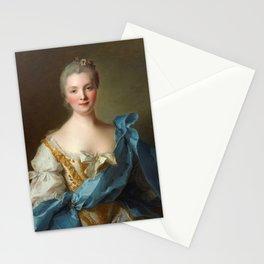 Madam de La Porte Portrait by Jean - Marc Nattier Stationery Cards