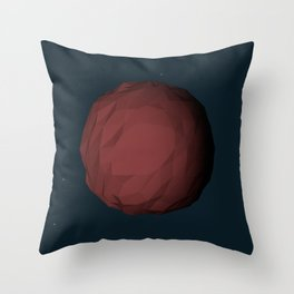 Planet Mars Low Poly Throw Pillow