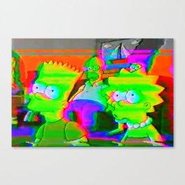 simpsons acid glitch Canvas Print