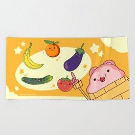 5 Fruits & Vegetables (Peepoodo) Beach Towel