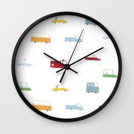 Cars Print pattern Wall Clock