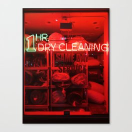1 Hour Dry Cleaning Canvas Print