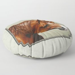 Chestnut Morgan Horse Floor Pillow