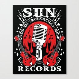 SUN RECORDS Canvas Print