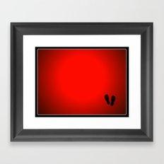 Flips Flops Framed Art Print