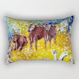 Farm Animals Protected by Brigit Rectangular Pillow
