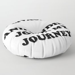 Solivagant And Finding Joy In My Journey Floor Pillow