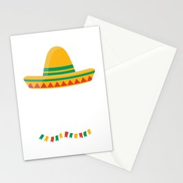 Down To Fiesta Cinco de Mayo Costume Party Gift Stationery Cards