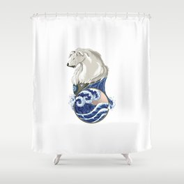 Naga with Water Symbol Shower Curtain