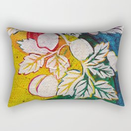 Leaves on the World Tree: Circassian Cork Oak with Mixed Fruit Rectangular Pillow