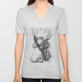 March Hare Unisex V-Neck