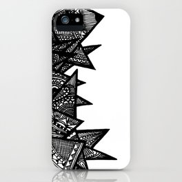 Triangle Henna Print- B+W iPhone Case
